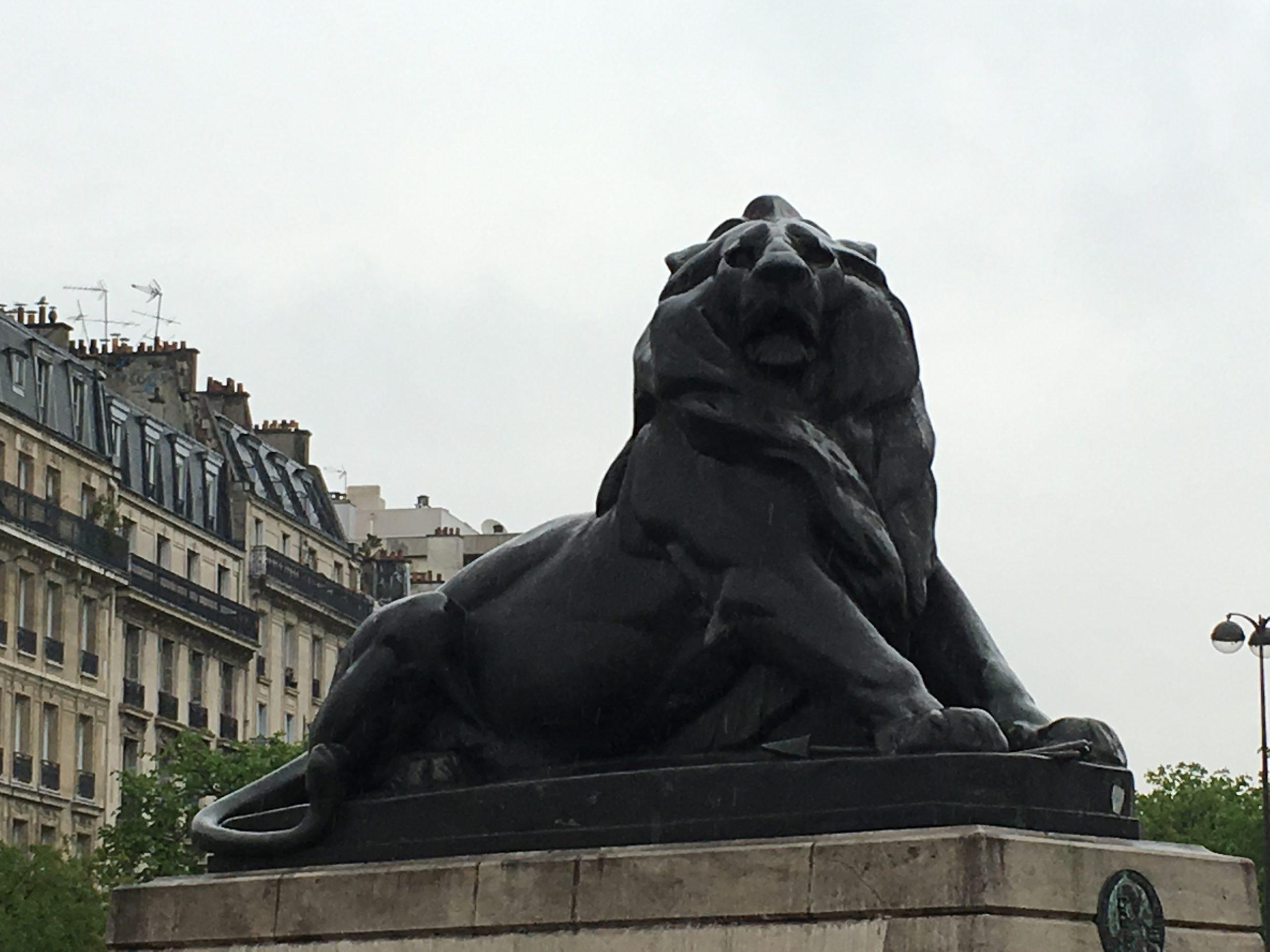 le lion de Denfert Rochereau