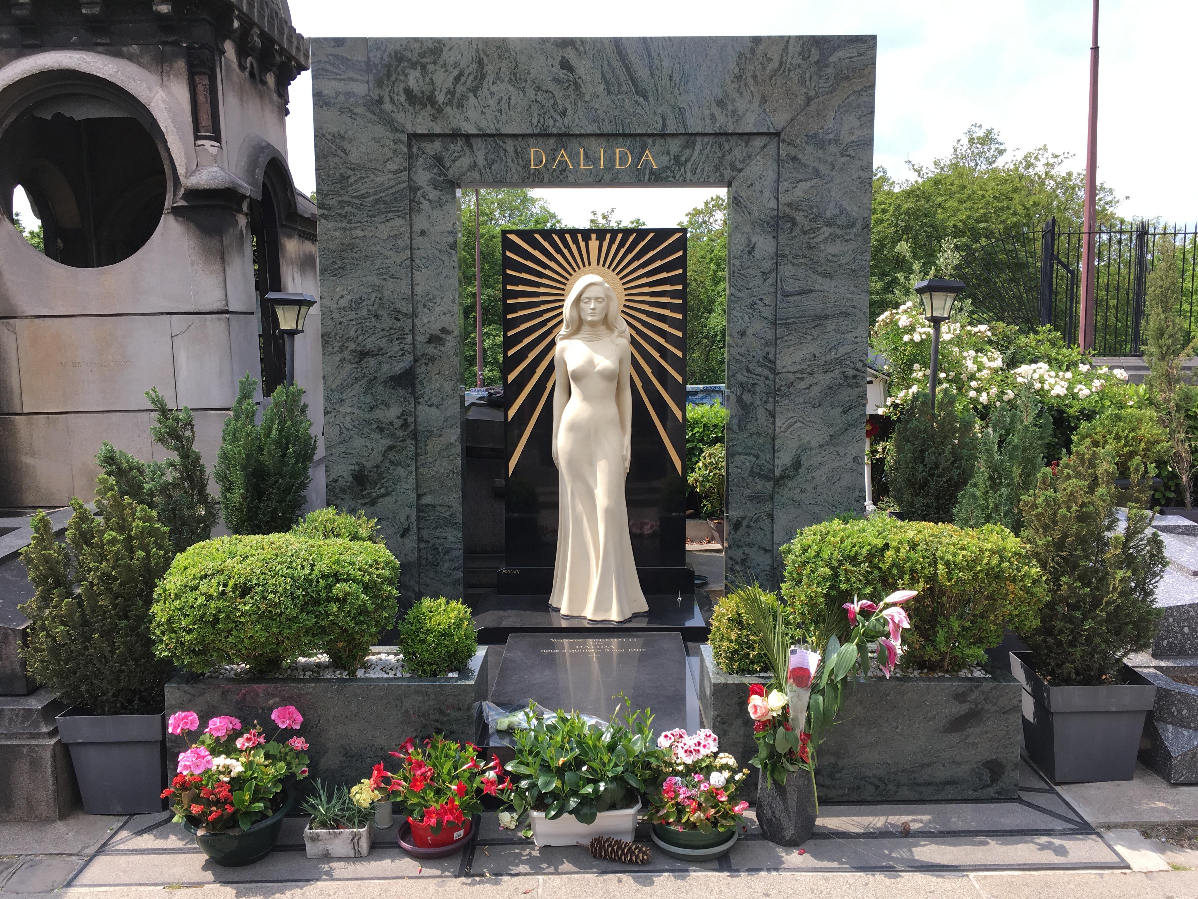 Tombe de Dalida, Cimetière de Montmartre (Paris)